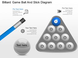 Xd Billiard Game Ball And Stick Diagram Powerpoint Template