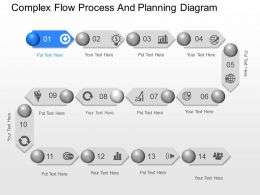 Xe Complex Flow Process And Planning Diagram Powerpoint Template