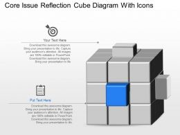 Xf Core Issue Reflection Cube Diagram With Icons Powerpoint Template