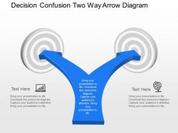 Xg Decision Confusion Two Way Arrow Diagram Powerpoint Template