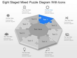 Xh Eight Staged Mixed Puzzle Diagram With Icons Powerpoint Template