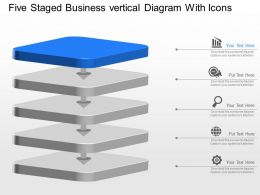 Xk Five Staged Business Vertical Diagram With Icons Powerpoint Template