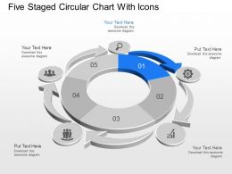 Xl Five Staged Circular Chart With Icons Powerpoint Template