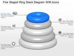 Xq Five Staged Ring Stack Diagram With Icons Powerpoint Template