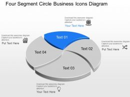 Xs Four Segment Circle Business Icons Diagram Powerpoint Template