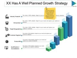Xx Has A Well Planned Growth Strategy Ppt Slides Background Designs