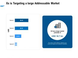 Xx Is Targeting A Large Addressable Market Ppt Powerpoint Presentation Layouts Good
