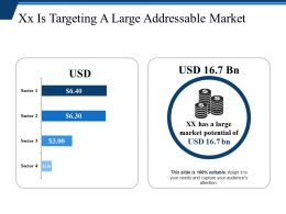 Xx Is Targeting A Large Addressable Market Ppt Samples Download