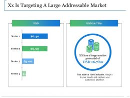 Xx Is Targeting A Large Addressable Market Ppt Slides Example File