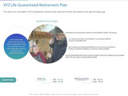 XYZ Life Guaranteed Retirement Plan Ppt Powerpoint Presentation Images