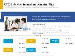XYZ Life New Immediate Annuity Plan Retirement Analysis Ppt Show Elements