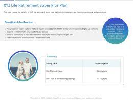 XYZ Life Retirement Super Plus Plan Ppt Powerpoint Presentation Summary