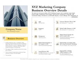 XYZ Marketing Company Business Overview Details Ppt Information