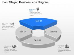 Ya Four Staged Business Icon Diagram Powerpoint Template