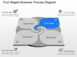 Yc Four Staged Business Process Diagram Powerpoint Template