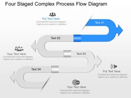 Ye Four Staged Complex Process Flow Diagram Powerpoint Template
