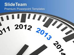 year_2013_is_quickly_approaching_wall_clock_powerpoint_templates_ppt_backgrounds_for_slides_0113_Slide01