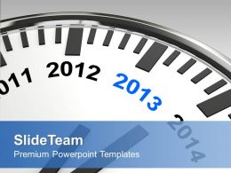 Year 2013 On Wall Clock New Year Celebration Powerpoint Templates Ppt Themes And Graphics 0113