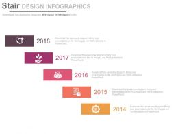 Year 2014 To 2018 Stair Design Infographics Powerpoint Slides