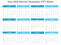 year 2018 planner illustration ppt slides
