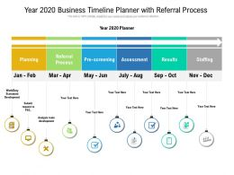 Year 2020 Business Timeline Planner With Referral Process
