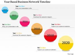 Year Based Business Network Timeline Flat Powerpoint Design