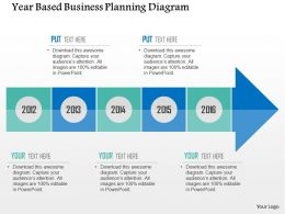 Year Based Business Planning Diagram Flat Powerpoint Design