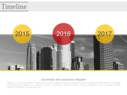 Year Based Business Timeline Diagram Powerpoint Slides
