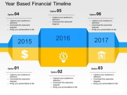 Year Based Financial Timeline Flat Powerpoint Design