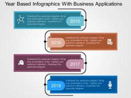 Year Based Infographics With Business Applications Flat Powerpoint Design