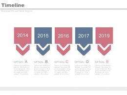 Year Based Linear Timeline For Business Powerpoint Slides