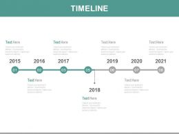 Year Based Linear Timeline For Sales Analysis Powerpoint Slides
