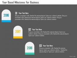Year Based Milestones For Business Flat Powerpoint Design