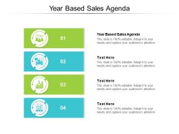 Year Based Sales Agenda Ppt Powerpoint Presentation Icon Summary Cpb