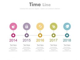 Year Based Sequential Icon Timeline Powerpoint Slides