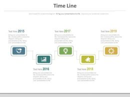Year Based Sequential Timeline For Business Analysis Powerpoint Slides