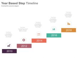 Year Based Step Timeline For Business Success Growth Powerpoint Slides