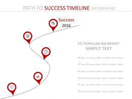 Year Based Success Timeline Path Powerpoint Slides