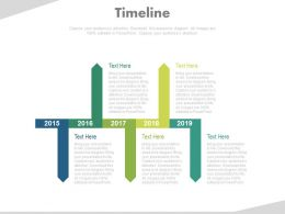 Year Based Tags Timeline For Success Powerpoint Slides