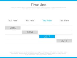 Year Based Timeline For Business Achievement Powerpoint Slides