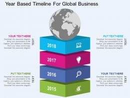 Year Based Timeline For Global Business Flat Powerpoint Design