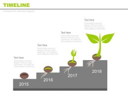 Year Based Timeline For Growth Indication Powerpoint Slides