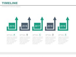 Year Based Timeline For Marketing Plan Powerpoint Slides