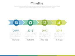 Year Based Timeline For Sales Agenda Powerpoint Slides