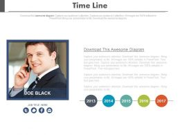 Year Based Timeline For Social Media Communication Powerpoint Slides