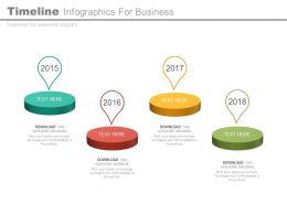 Year Based Timeline Infographics For Business Powerpoint Slides