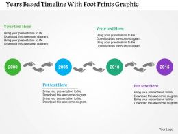 Year Based Timeline With Foot Prints Graphic Flat Powerpoint Design