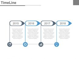 Year Based Timeline With Years For Business Powerpoint Slides