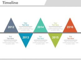 Year Based Triangular Timeline for Business Powerpoint Slides