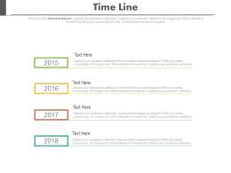 Year Based Vertical Timeline For Business Data Powerpoint Slides